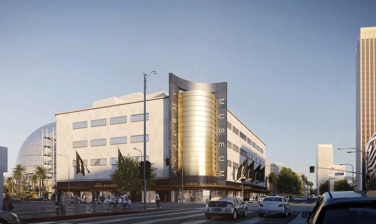 Academy Museum of Motion Pictures, Exterior Rendering ©Renzo Piano Building Workshop/©Academy Museum Foundation | Image from L'Autre Image