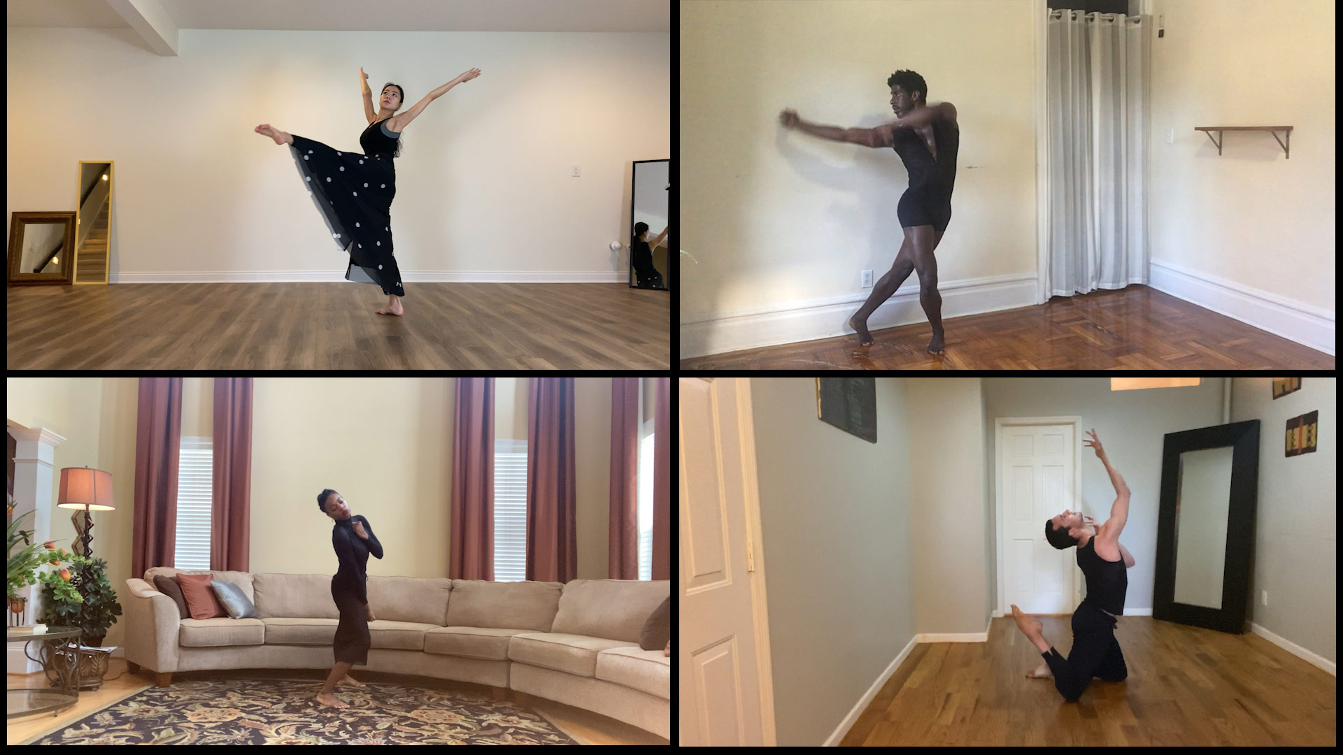Pictured clockwise (from upper left): Xin Ying, Lloyd Knight, Lorenzo Pagano, Leslie Andrea Williams. | Courtesy of Martha Graham Resources, a division of the Martha Graham Center of Contemporary Dance, Inc.