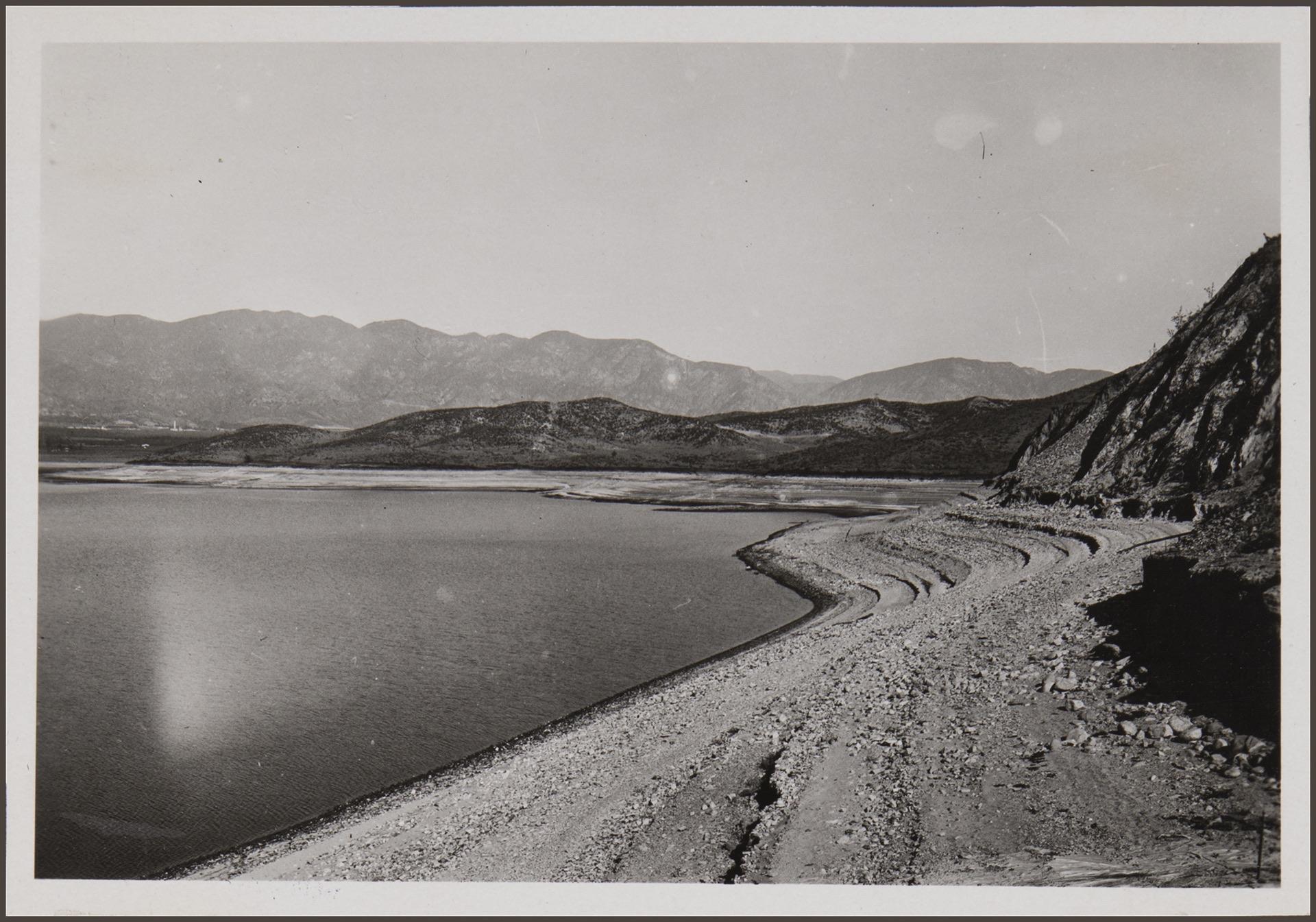 Reservoir near San Fernando, L.A. city water. Los Angeles: 1932-33 by Anton Wagner, PC 17, California Historical Society.