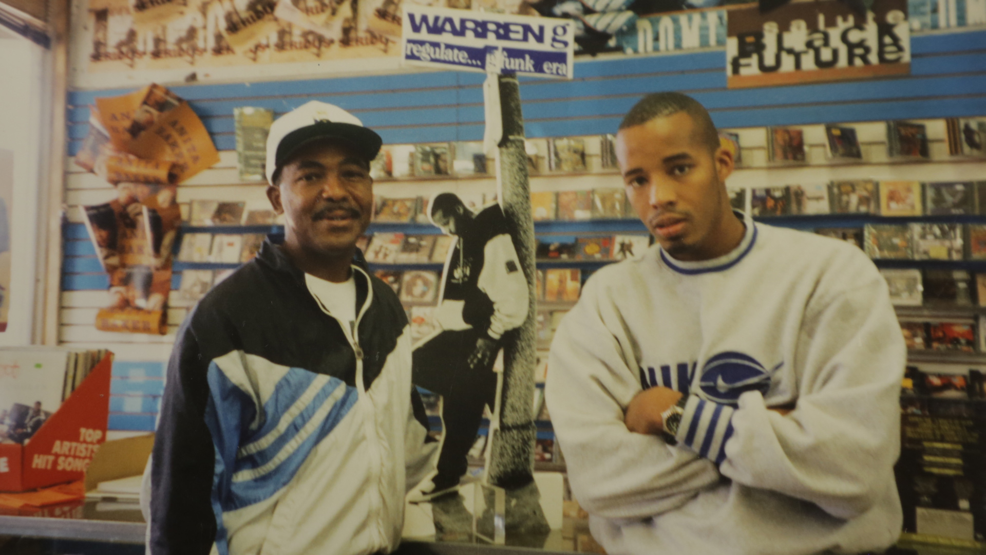 "Kelvin with Warren G shortly after the release of his debut album, ""Regulate…G Funk Era"" in 1994."