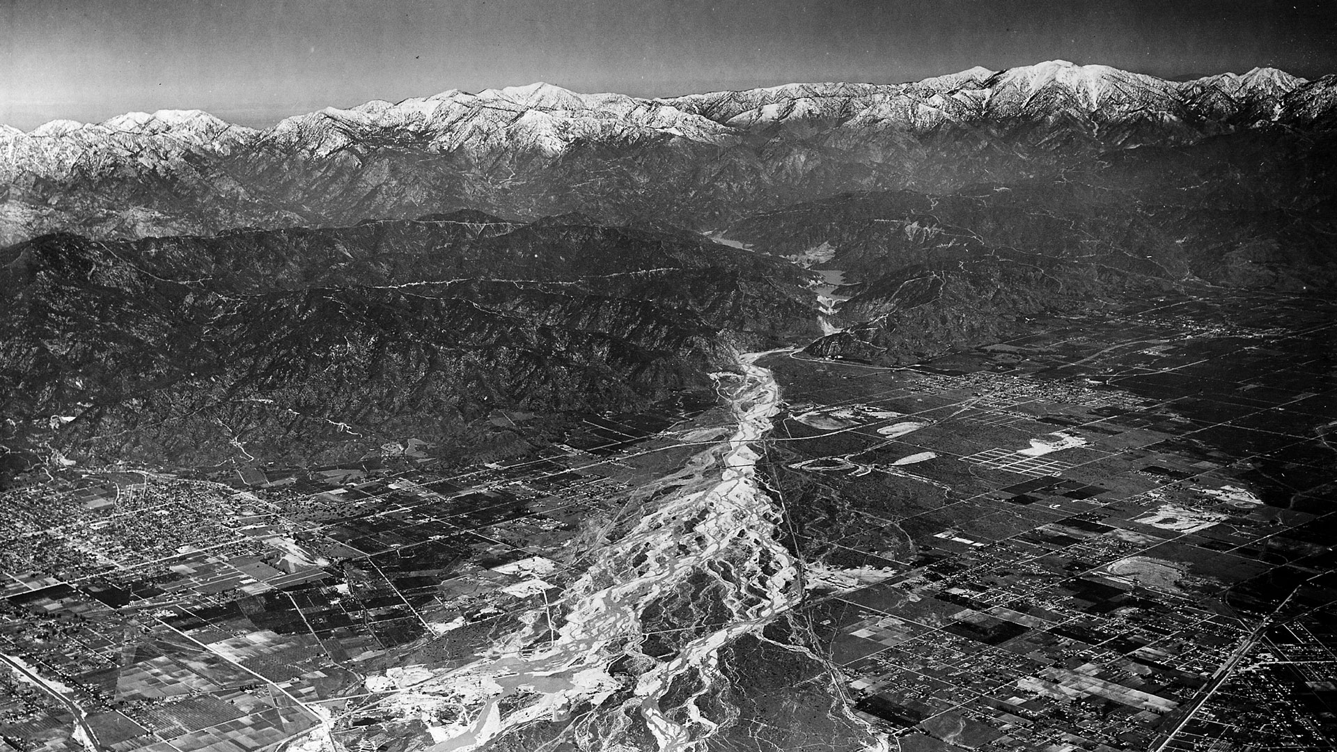 aerial view of the rio hondo in 1941