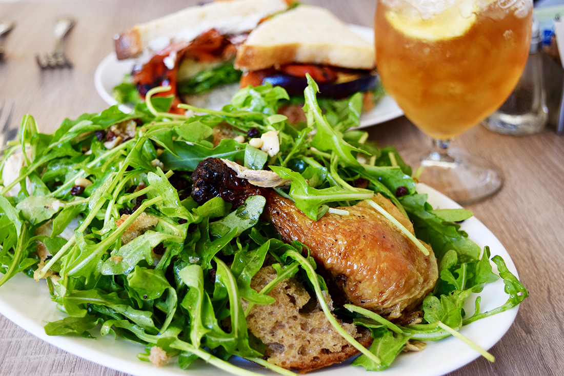 Roast chicken and bread salad at Plenty on Bell | Danny Jensen