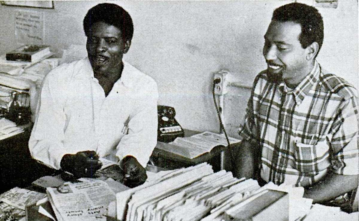 """A portrait of Robert Hall and Lou Smith, founders of Operation Bootstrap on a Jet Magazine story published by Johnson Publishing Company 