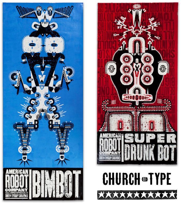 Robots series | Courtesy of Church of Type