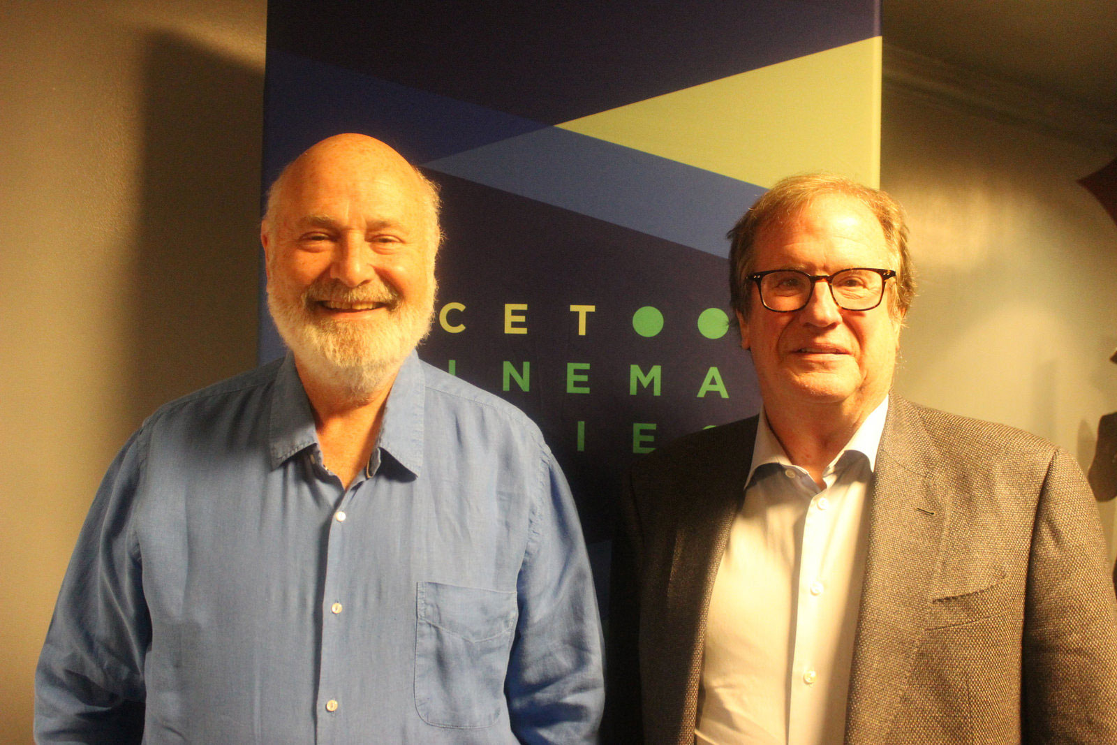 "Cinema Series host Pete Hammond with Actor, Director and Producer Rob Reiner after a screening of ""Shock and Awe"""