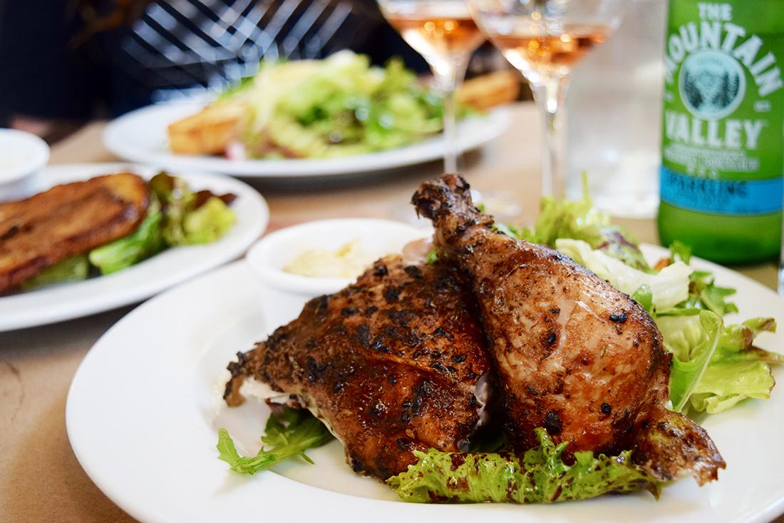 Rotisserie chicken at Bell Street Farm | Danny Jensen