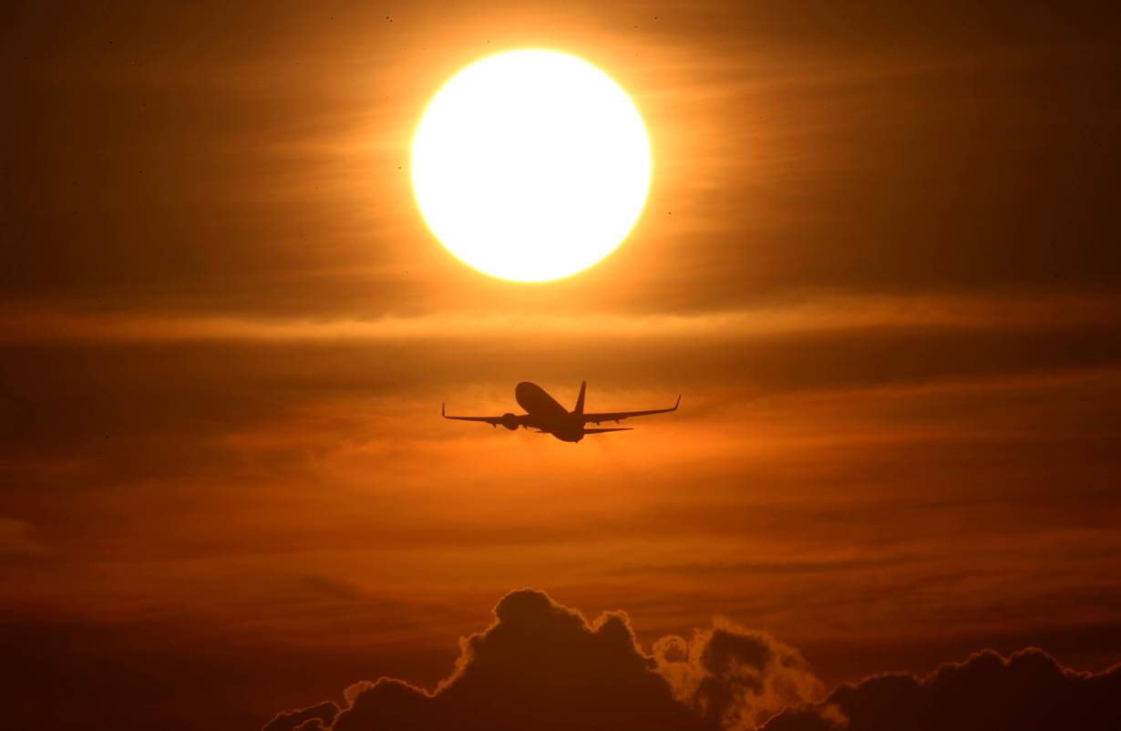 An air plane takes off from the airport as air traffic is effected by the spread of the coronavirus disease (COVID-19) in Frankfurt, Germany, March 16, 2020. | REUTERS/Kai Pfaffenbac