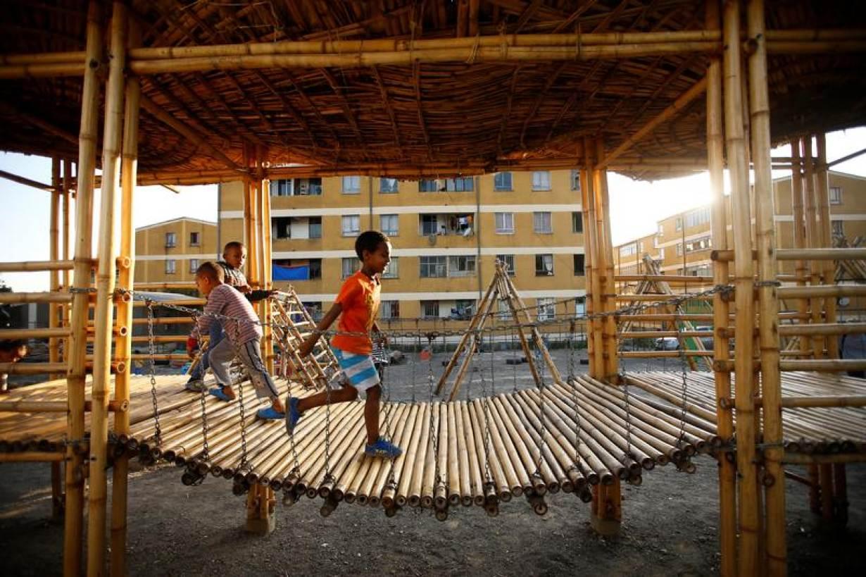 ARCHIVE PHOTO: Children play within the Balderas condominium in Ethiopia's capital Addis Ababa, October 18, 2016. | REUTERS/Tiksa Negeri