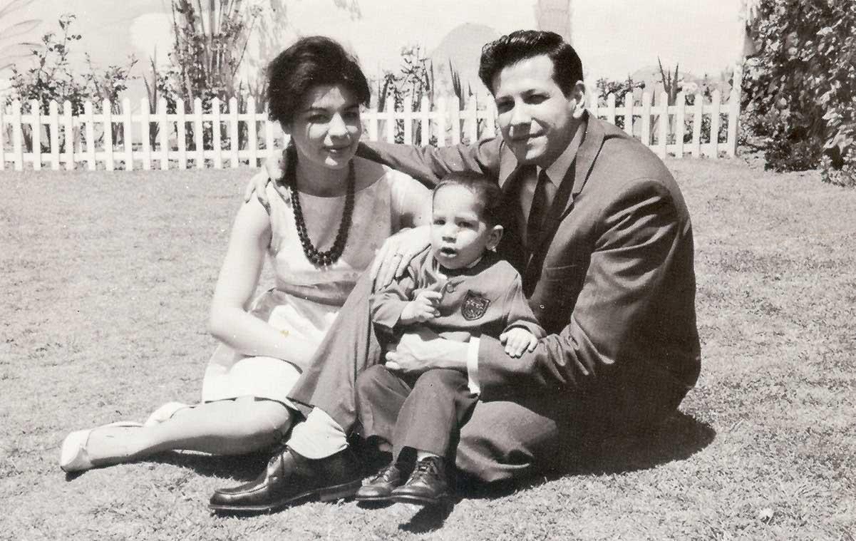 A young Rubén Martinez with his parents | Courtesy of Rubén Martinez