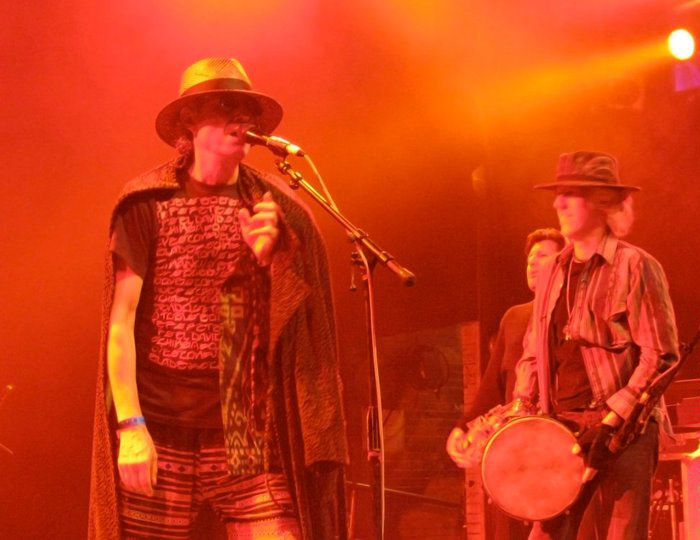 Ruben with his band Thee Eastside Luvers and guest John Densmore of The Doors opening for Los Lobos, House of Blues, 2010 | Vincente Mercado