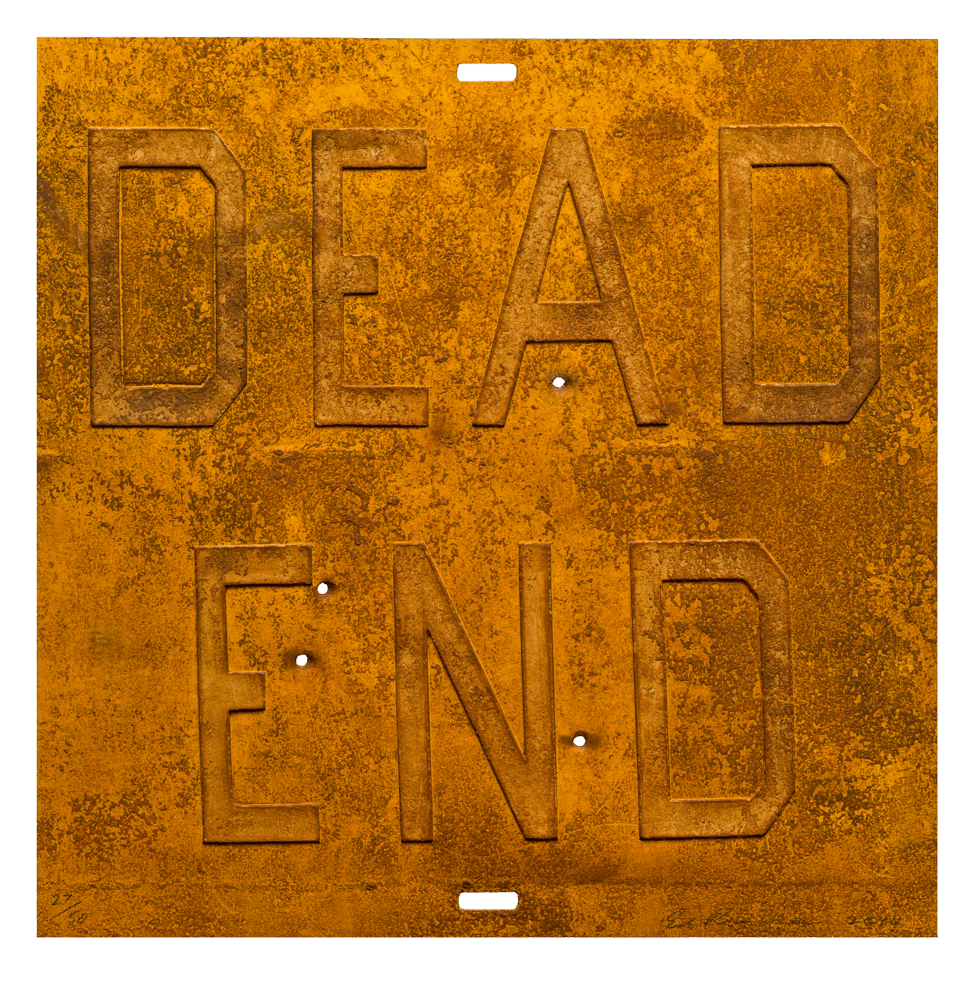 "Ed Ruscha, ""Rusty Signs - Dead End 2,"" 2014"