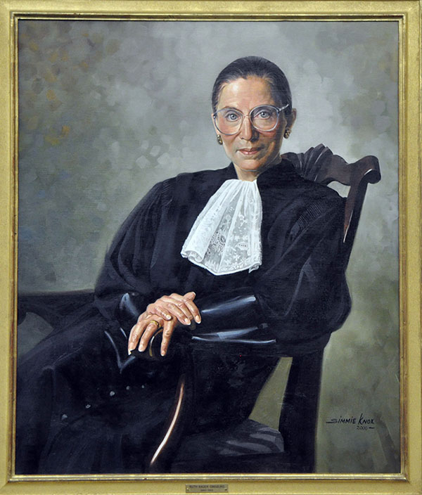 Ruth Bader Ginsburg United States Supreme Court Justice | Simmie Knox, under commission of the United States Supreme Court