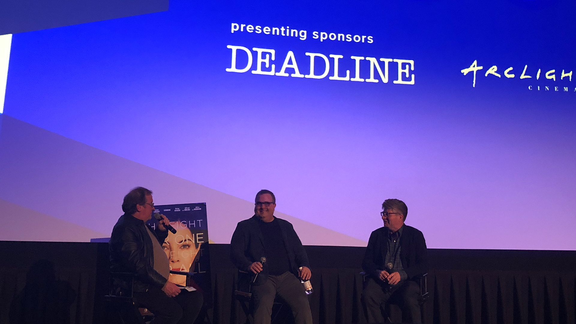 """Cinema Series host Pete Hammond, Director Sean Hanish and Writer Dmitri Portnoy participate in a Q&A after a screening of """"Saint Judy"""""""