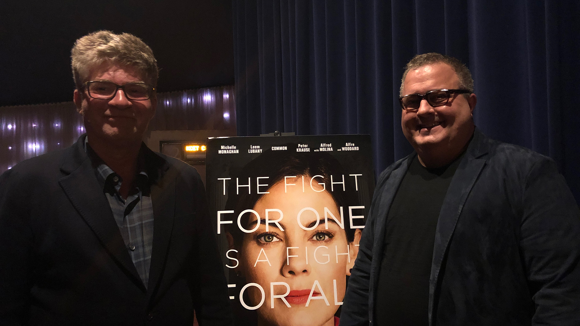 """Writer Dmitri Portnoy and Director Sean Hanish after a screening of """"Saint Judy"""""""