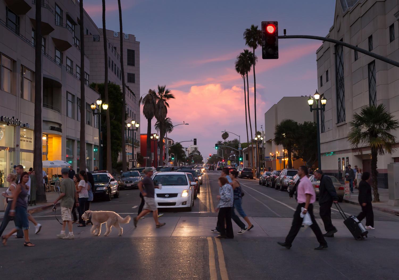Santa Monica crosswalk