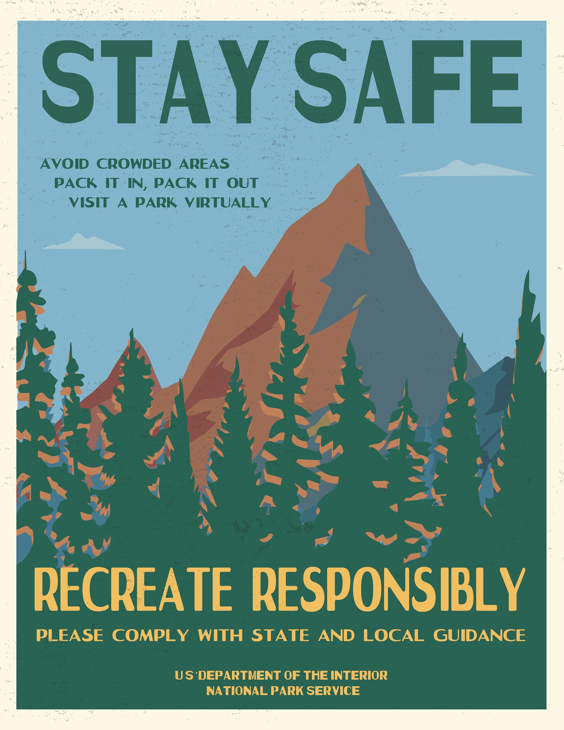 """Stay Safe, Recreate Responsibly"" poster 