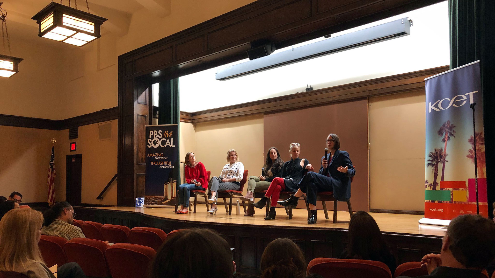 Panel moderator Jill Replogle (KPCC/LAist) led the discussion between panelists Gina Pollack (KCET producer), Amy Hammes (Specialist at Burbank Recycling), Anna Cummins (Co-Founder 5 Gyres) and Assemblymember Laura Friedman.