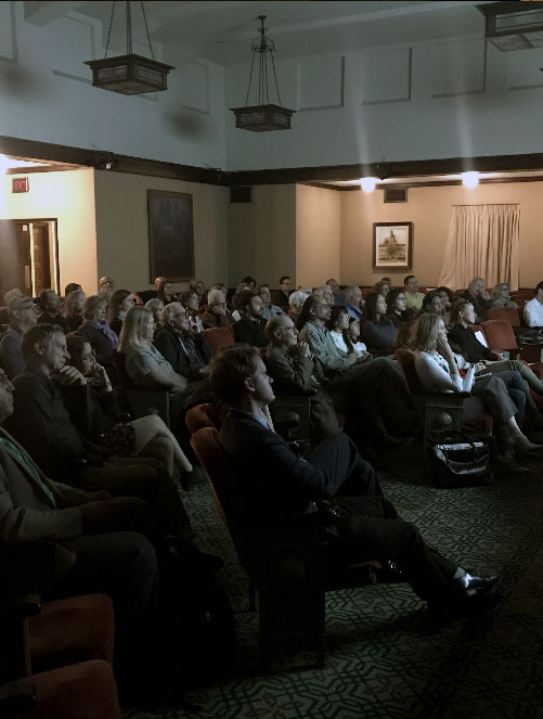 """Community members joined the screening of SOCAL CONNECTED's screening of """"Life in Plastic: California's Recycling Woes."""""""
