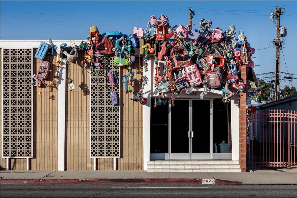 """""""Toy Drive,"""" Plastic toys, plastic garbage, 2020 by Kenny Scharf   Joshua White"""