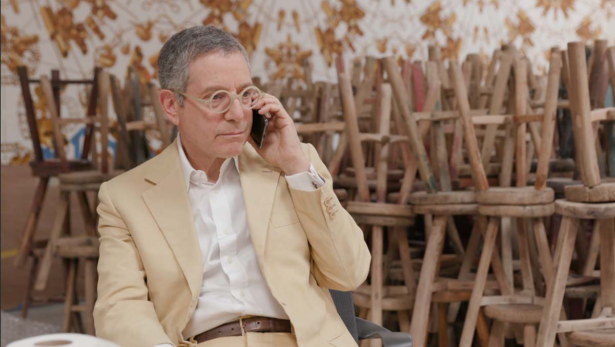 "Jeffrey Deitch at work | Still from ""Artbound"" Jeffrey Deitch's Los Angeles"