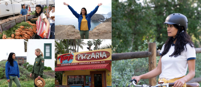 Rosey Alvero host of SOCAL WANDERER. Photos courtesy of KCET