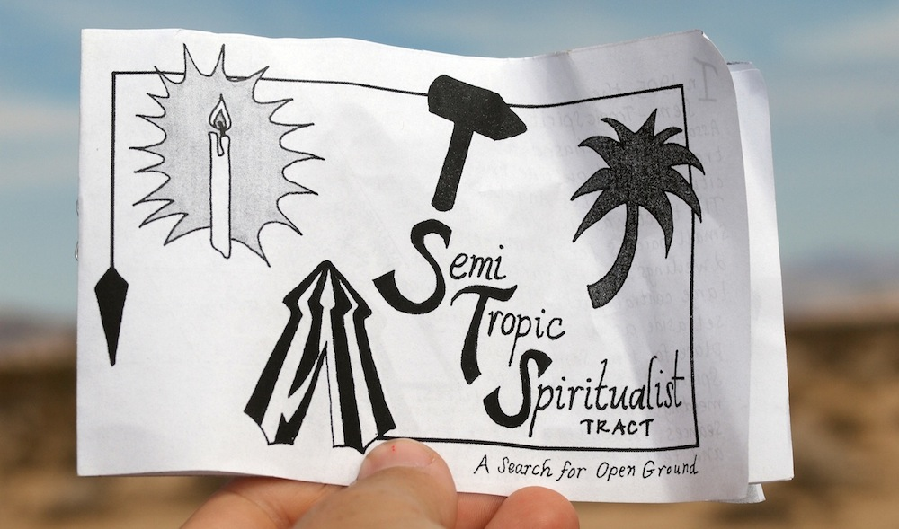 """Semi-Tropic Spiritualists"" is a project by artists Astri Swendsrud and Quinn Gomez-Heitzeberg"