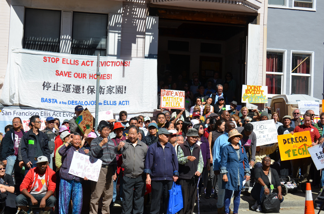 sf lee family protest ellis act