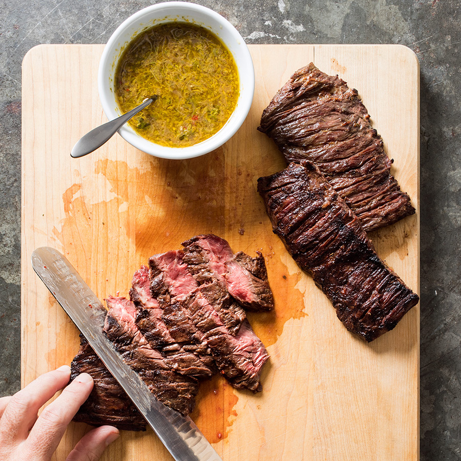 grilled mojo marinated steak