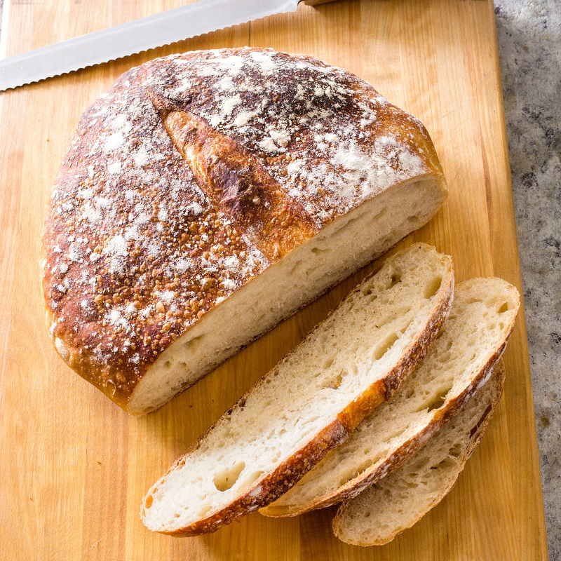 Weekend Recipe Almost No Knead Sourdough Bread Kcet