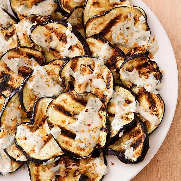 Grilled Eggplant with Yogurt Sauce