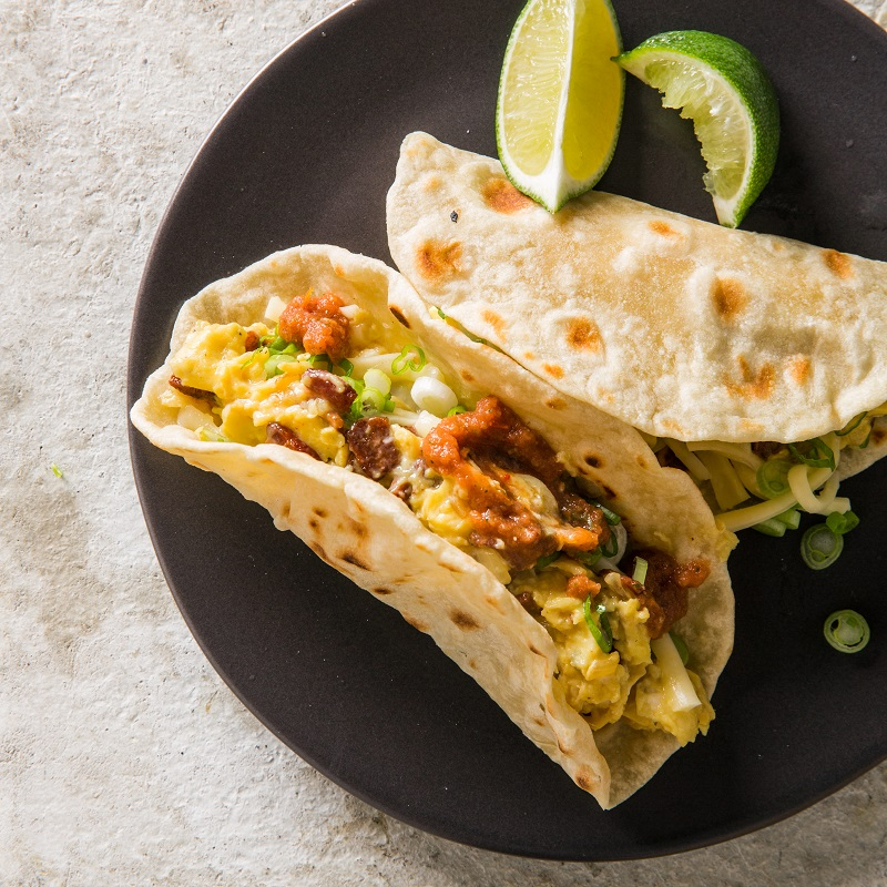 Weekend Recipe Texas Breakfast Tacos With Bacon Kcet