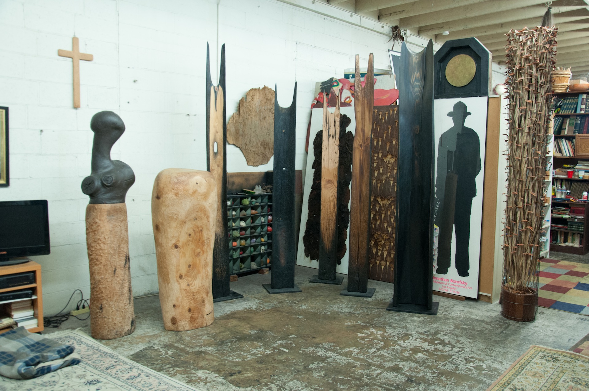 Shiokava Sculptures in Compton studio