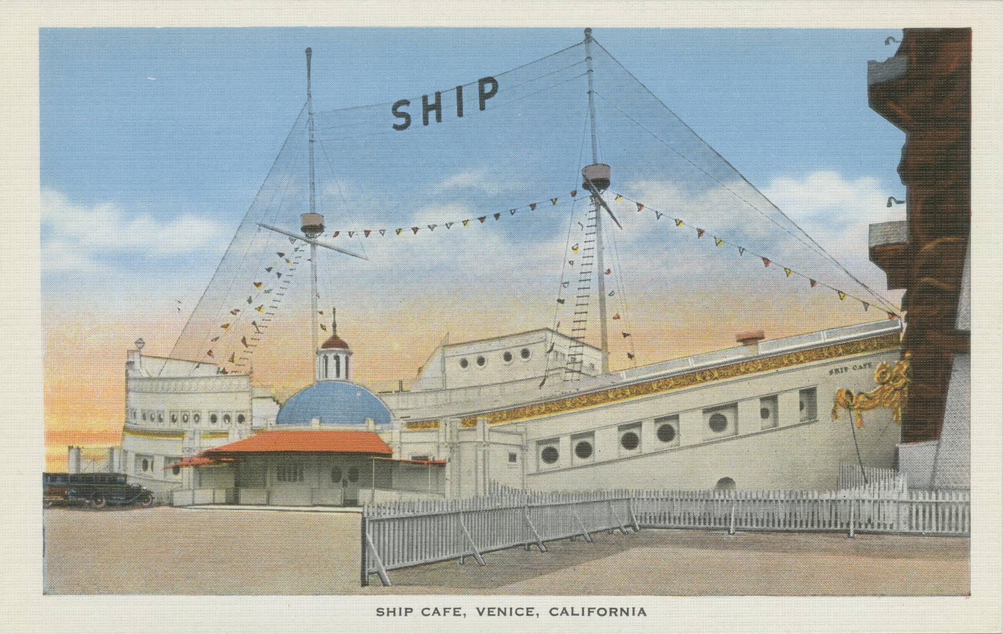 Postcard of the Ship Café