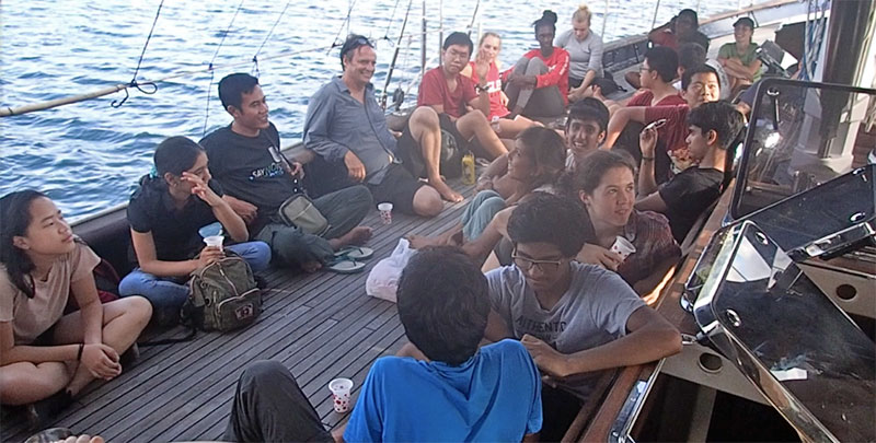Students from Singapore visit the Mir as part of the Biosphere Stewardship Education Program. | Photo: Biosphere Foundation