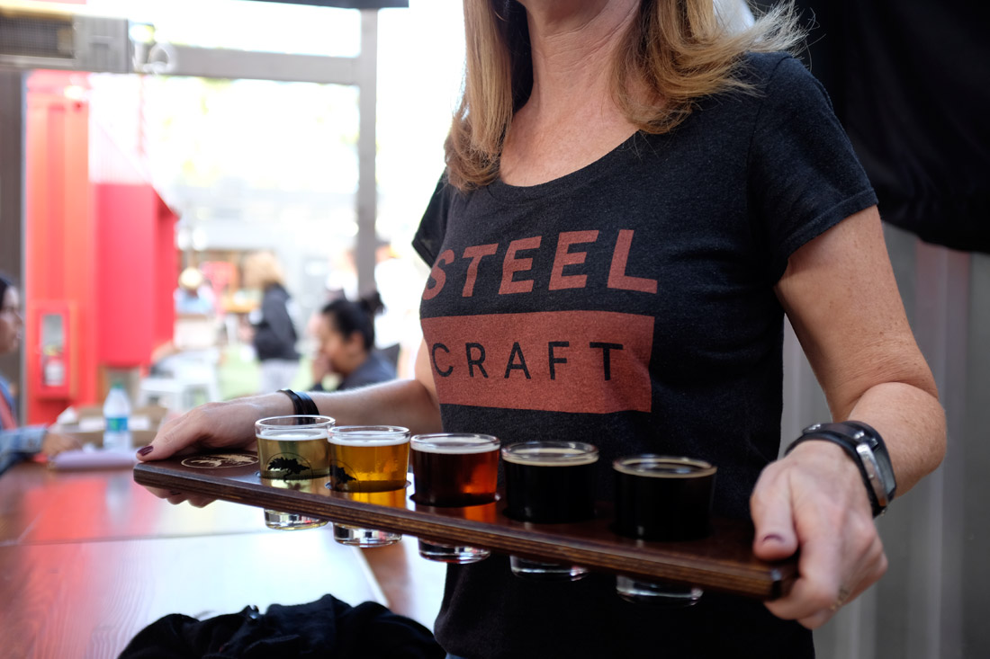 Smog City Brewing, Beer Flight | Ian Vergara