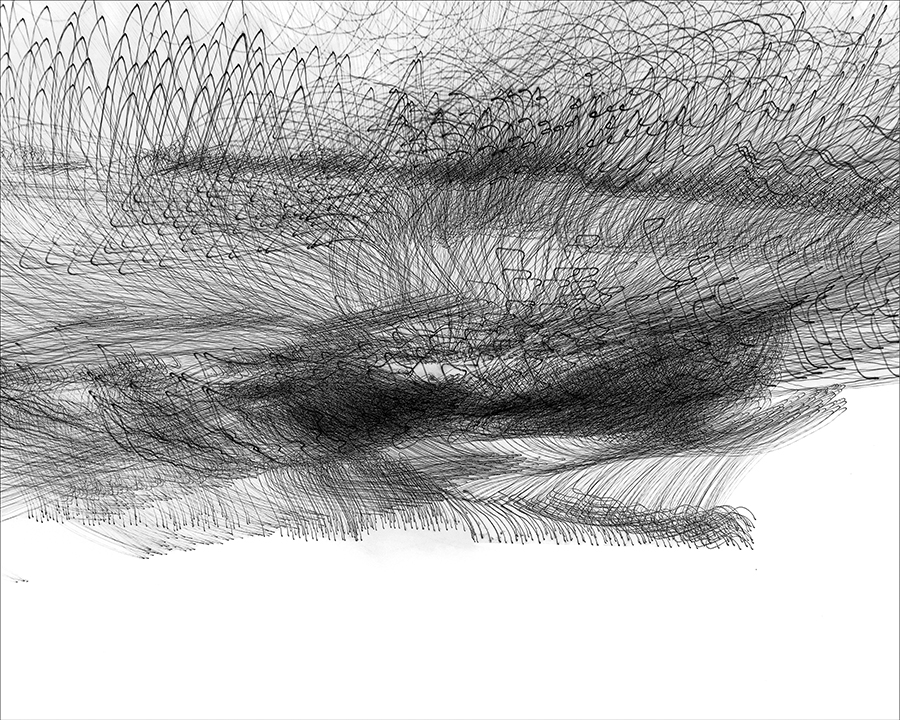 """""""Snowfield"""" by Echo Lew, 2011, Photography of moving light printed in ink on fine art paper."""