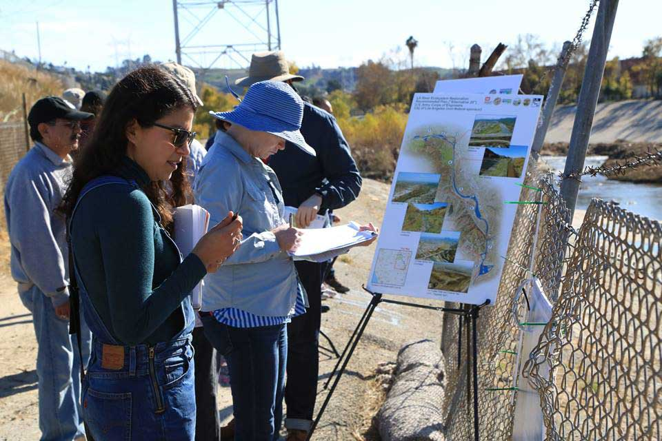 A community self-guided walking tour of Taylor Yard G2 parcel. | Courtesy of Bureau of Engineering, city of Los Angeles
