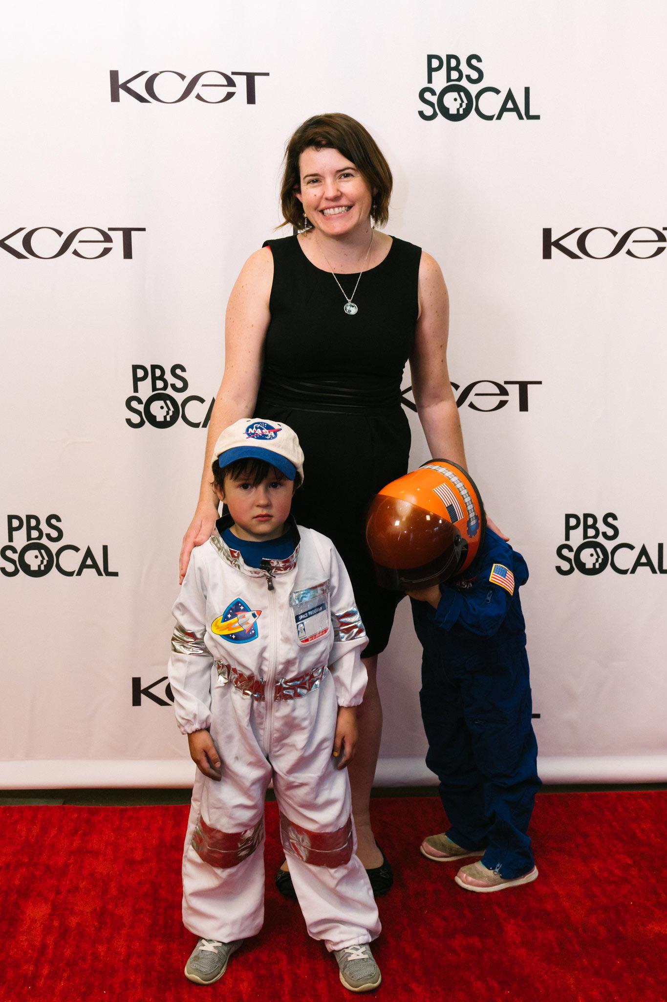 Astrophysicist and Winner of the 2018 NASA Exceptional Achievement Medal Dr. Jessie Christiansen with her children