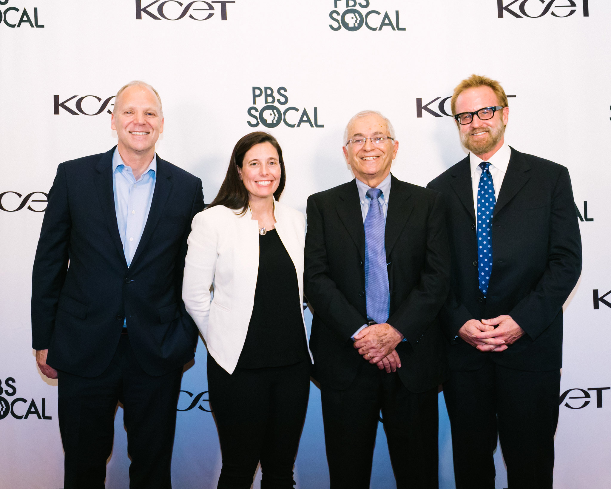 Public Media Group of Southern California President & CEO Andrew Russell, VP of Space Systems Division for Northrop Grumman Sarah Willoughby, Director of Jet Propulsion Laboratory, Dr. Charles Elachi and Filmmaker Peter Jones (BLUE SKY METROPOLIS)