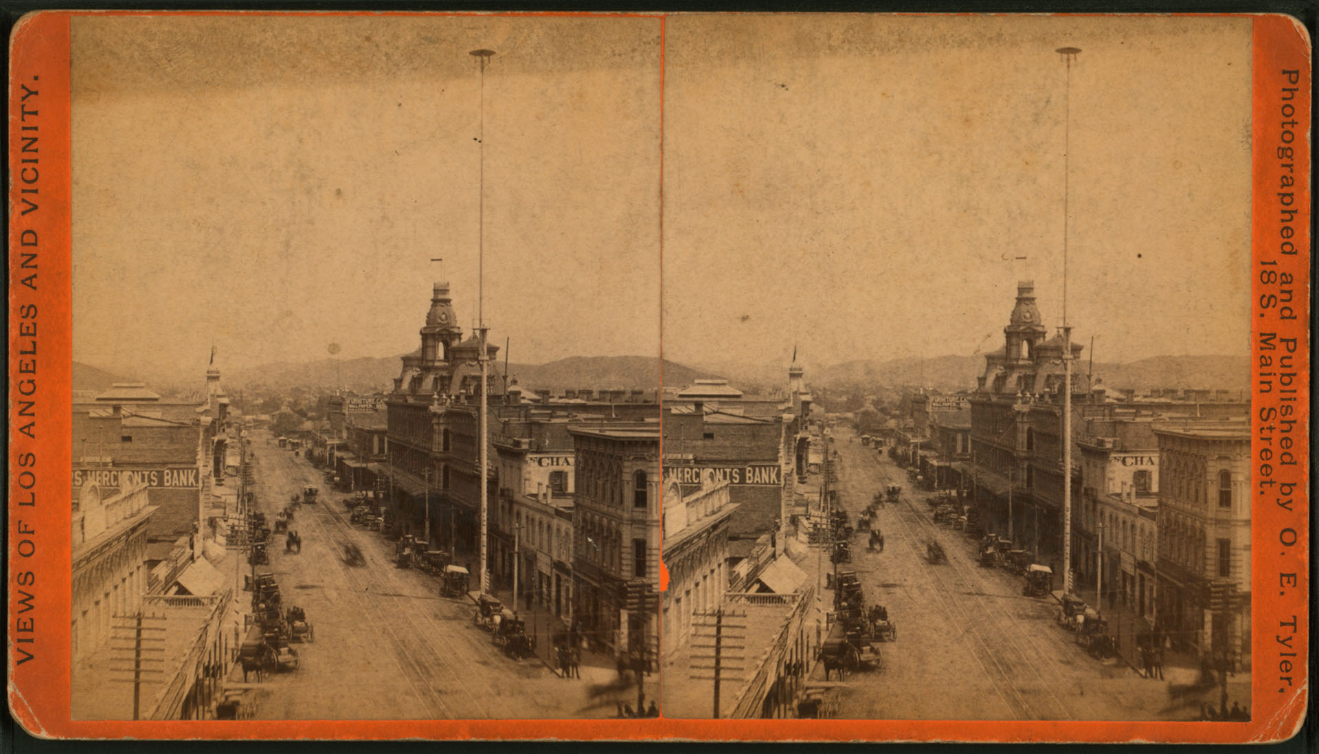 Main Street north from Temple Block, Los Angeles, Cal.