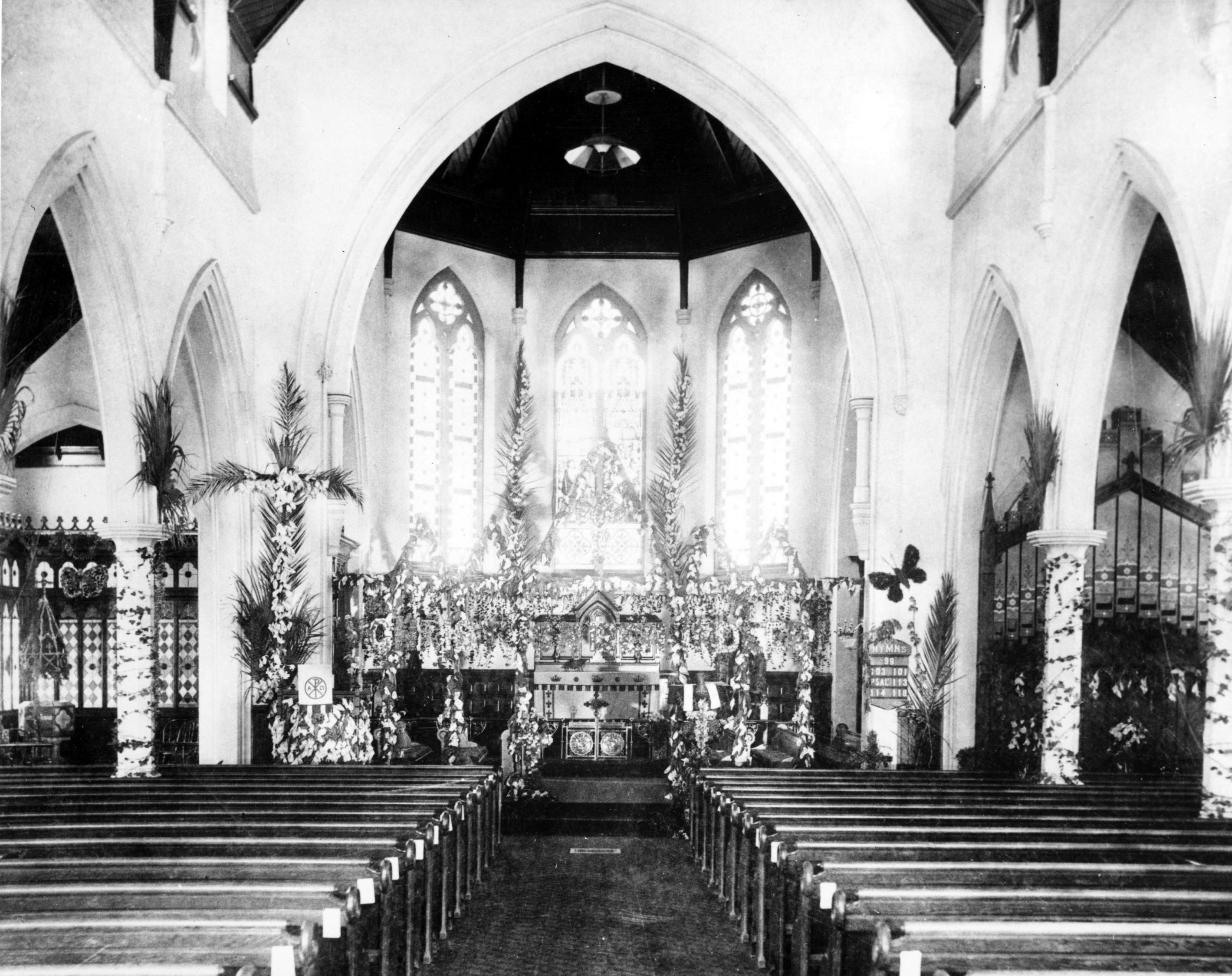 Pews and altar of Saint Paul's Episcopal Church, [s.d.]