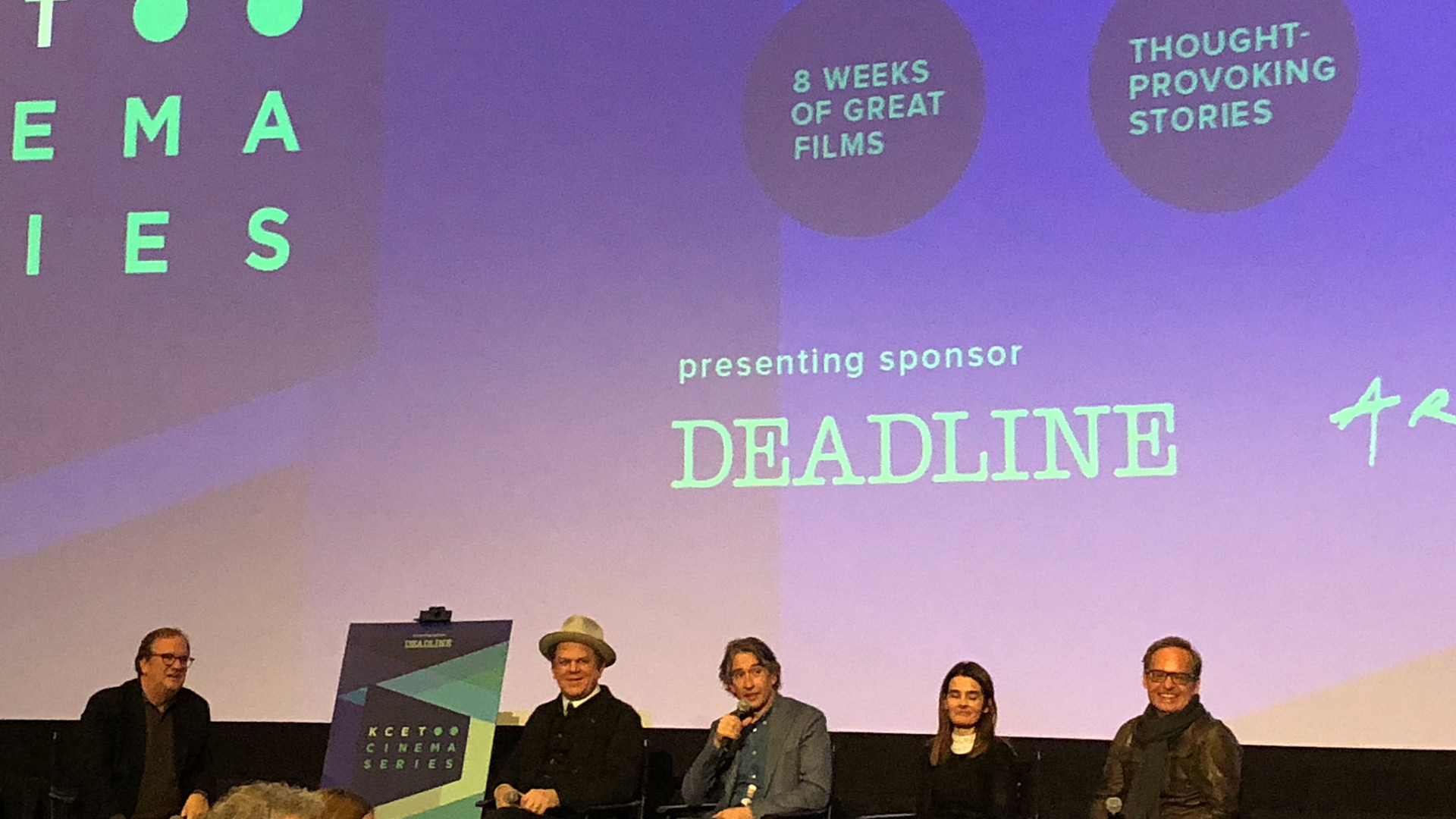 "Cinema Series host Pete Hammond, Actors John C. Reilly, Steve Coogan, Shirley Henderson and Director Jon S. Baird participate in a Q&A after a screening of ""Stan & Ollie"""