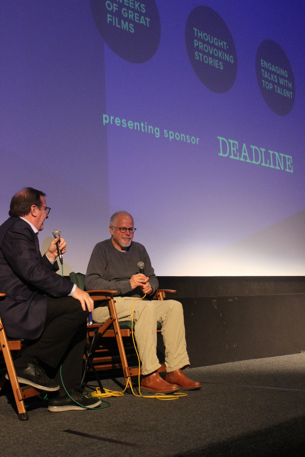 "Cinema Series host Pete Hammond and Editor Jay Cassidy participate in a Q&A after a screening of ""A Star Is Born"""