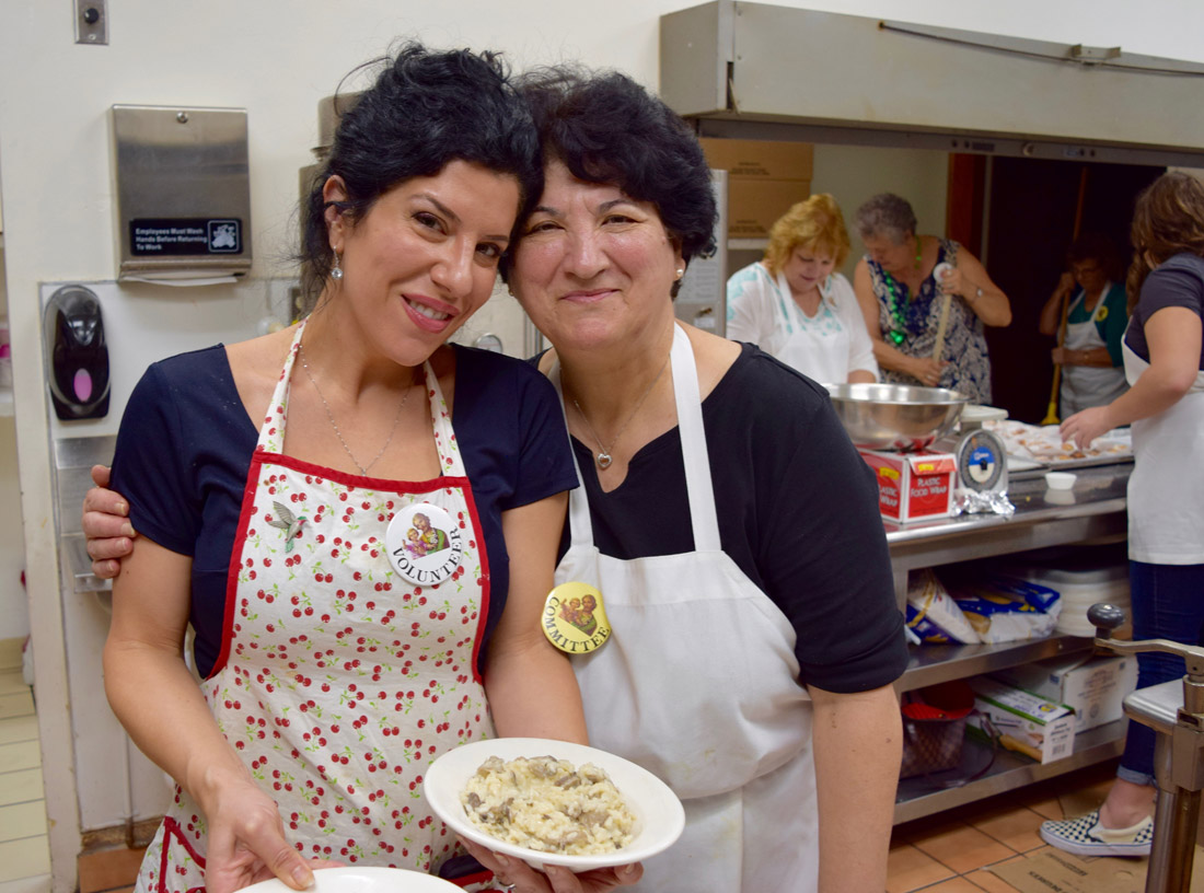 Marianna Gatto, executive director of the Italian American Museum of Los Angeles with Angela Gallidoro, St. Joseph's Table