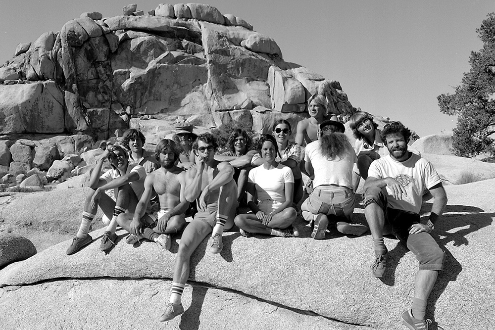 Brian Rennie's 1978 photo at The Blob of climbers associated with the Stonemasters. | © Brian Rennie/Benchmark Studios (1978 - 2017)