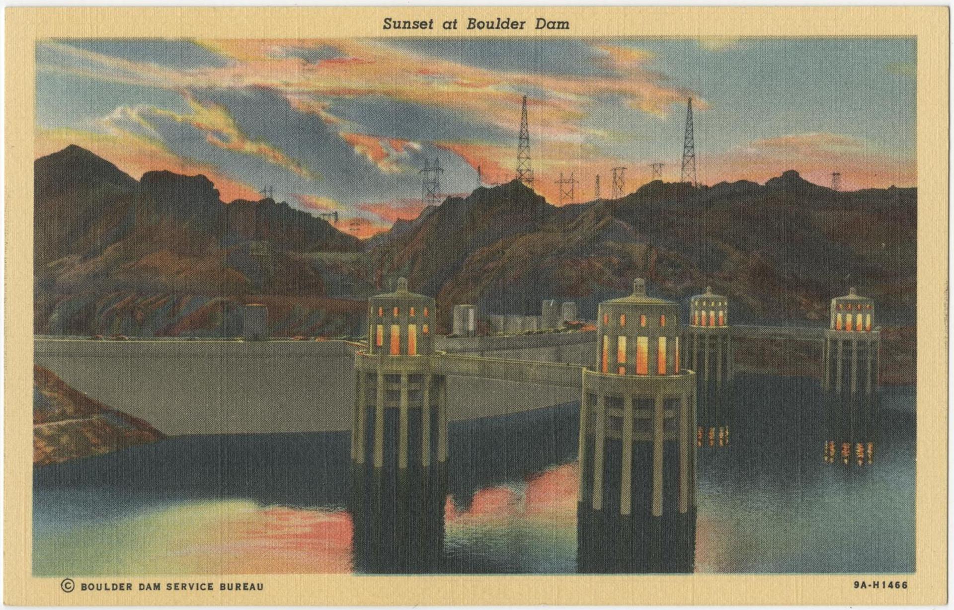 Sunset at Boulder Dam