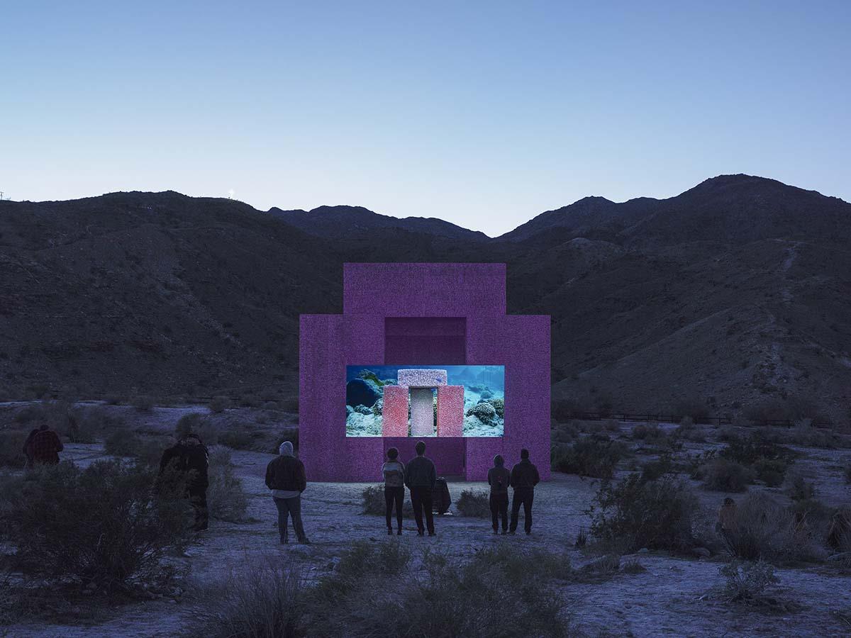 Desert X installation view, Superflex, Dive-In, 2019 | Lance Gerber, courtesy of Desert X