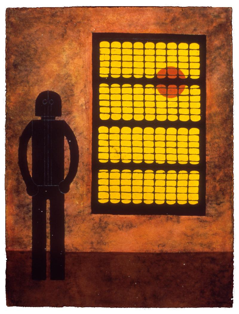 """Rufino Tamayo, """"Hombre en la Ventana,"""" 1980"""