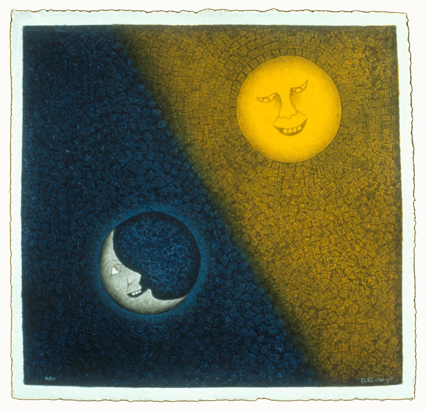 """Rufino Tamayo, """"Luna y Sol,"""" 1990"""