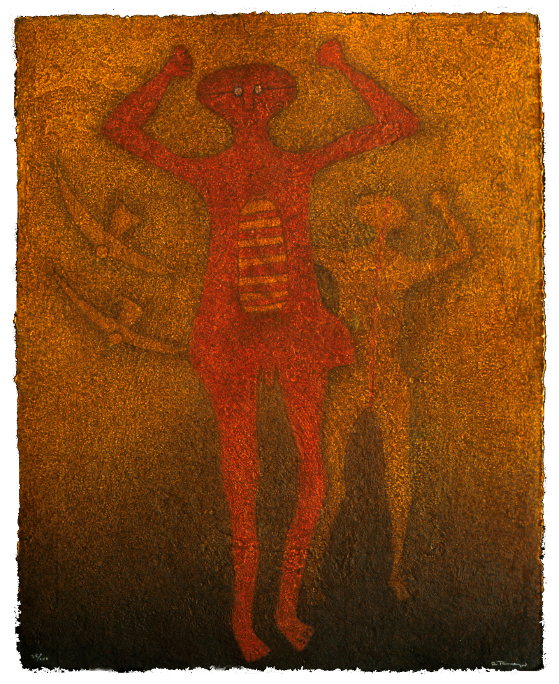 "Rufino Tamayo, ""Personajes con Pajaros,"" 1988"
